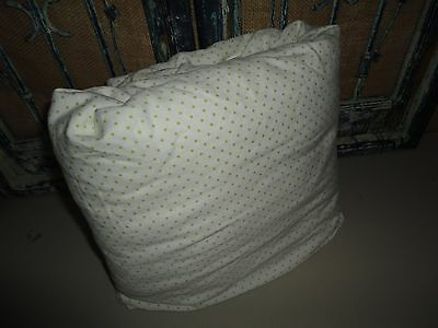 "VINTAGE MIRABELLO GREEN & WHITE POLKA DOTS XL QUEEN FITTED SHEET 14"" POCKETS"