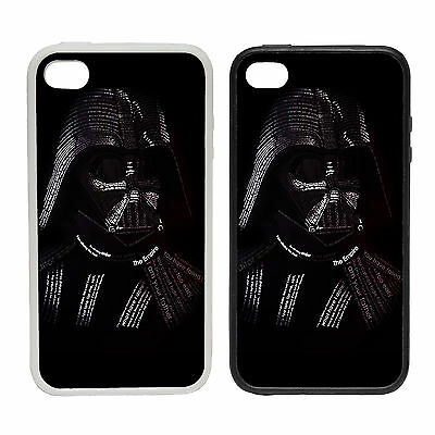 Vader Typography -Rubber and Plastic Phone Cover Case- Darth Star Wars ,
