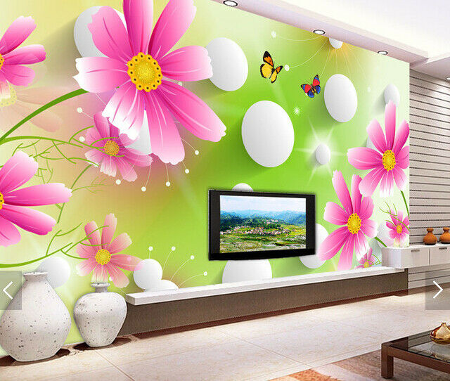 3D Flower Balls 57 Wallpaper Murals Wall Print Wallpaper Mural AJ WALL AU Kyra