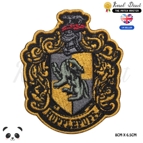 Harry Potter Gryffindor Ravenclaw Slytherin Embroidered Sew//Iron On Patch Badge