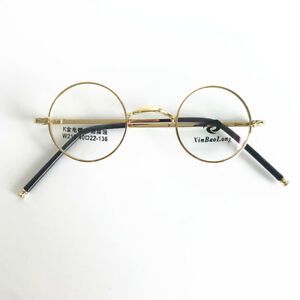 76690a5393354 Vintage 40mm Round Eyeglass Frames Gold Full Rim Glasses Spectacles ...