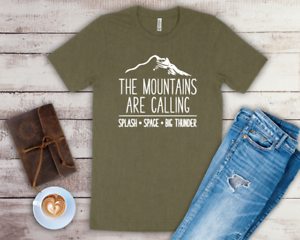 Adult The Mountains Are Calling Shirt Splash Big Thunder /& Space Disney Vacation