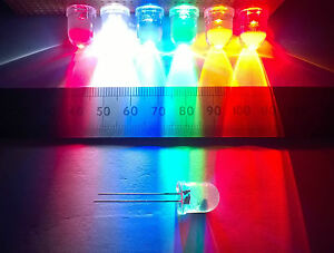 10mm-High-Brightness-Clear-Lens-LED-in-Various-Colours-Constant