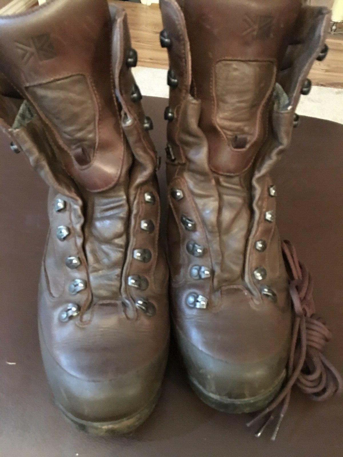 Genuine British Army Karrimor SF Cold  Wet Weather Goretex Brown Combat Boots10M