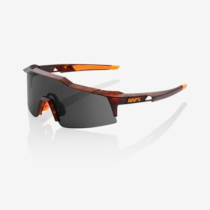 100% Speedcraft SL Sunglasses  Matte Dark Havana with Smoke Lens