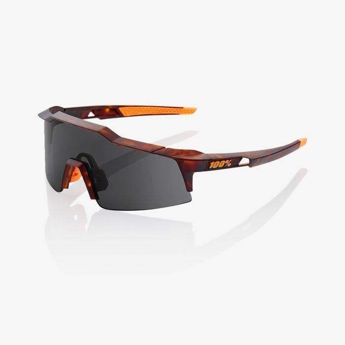 100% Speedcraft SL Sunglasses  Matte Dark Havana with  Smoke Lens  simple and generous design