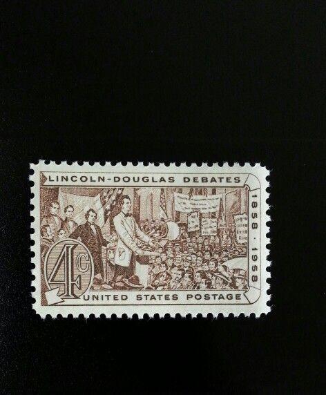 1958 4c Lincoln-Douglas Debates, Beale Scott 1115 Mint