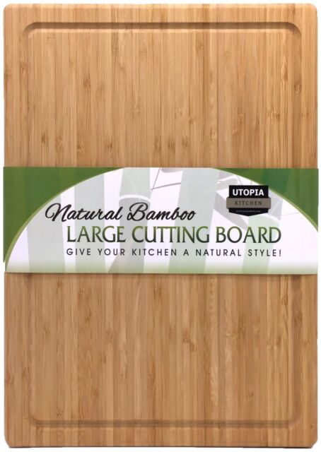 Extra Large Bamboo Cutting Board 17 By 12in Utopia Kitchen Ebay