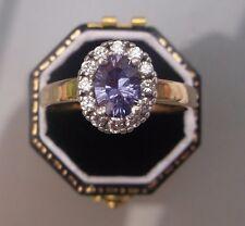 Women's 9ct Gold Quality Aquamarine Stone Ring Weight 5.1g Size V Hallmarked