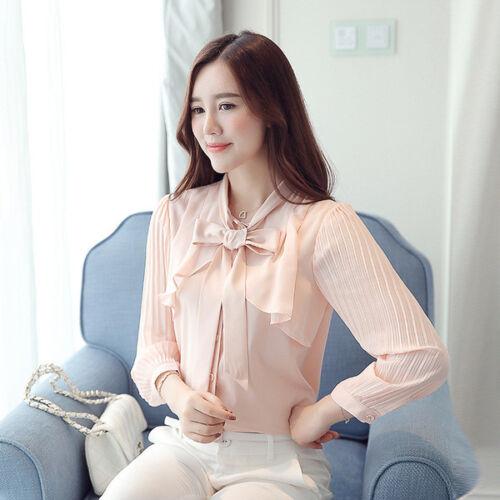 Elegante Lunghe Slim Camicia Maniche 4637 Rosa Camicetta Maglia xtqTwnYRR