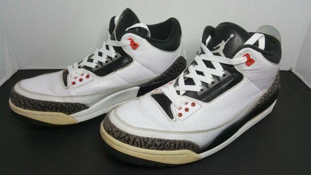 730baed7ca9635 Nike Air Jordan 3 Retro Sz 11.5 White Black Cement Grey Infrared 23 ...