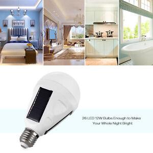 Lampes-de-Secours-Panneau-Solaire-Portatif-de-l-039-ampoule-12W-LED-Camping-Crochet