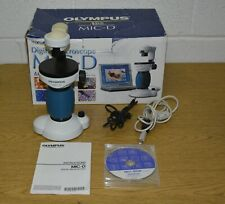 Olympus Mic D Inverted Digital Microscope With Box Manual Cd