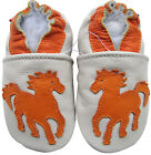 carozoo soft sole leather baby shoes horse cream 18-24m