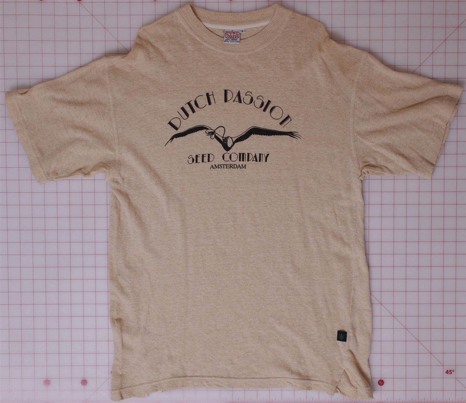 Dutch Passion Seed Co. Large Hemp Tan T-Shirt