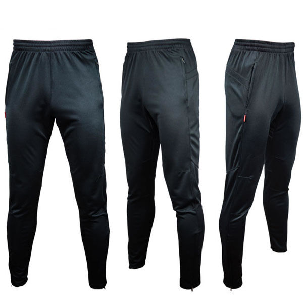 Men Sportwear Soccer Running Training Sweat Skinny Pants Trousers pure Black