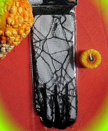 endgeile gothic spinnennetz handschuhe ovp einheitsgröße