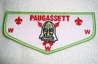 OA PAUGASSETT LODGE 553 HOUSATONIC COUNCIL SCOUT PATCH GREEN DANCE MASK FLAP