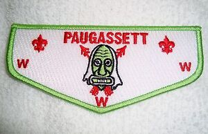 OA-PAUGASSETT-LODGE-553-HOUSATONIC-COUNCIL-SCOUT-PATCH-GREEN-DANCE-MASK-FLAP
