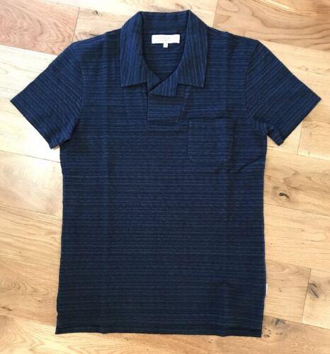 Camisa Dark para corta M manga Orlebar Melange New talla de Navy polo Garvey hombre r6x1Sr