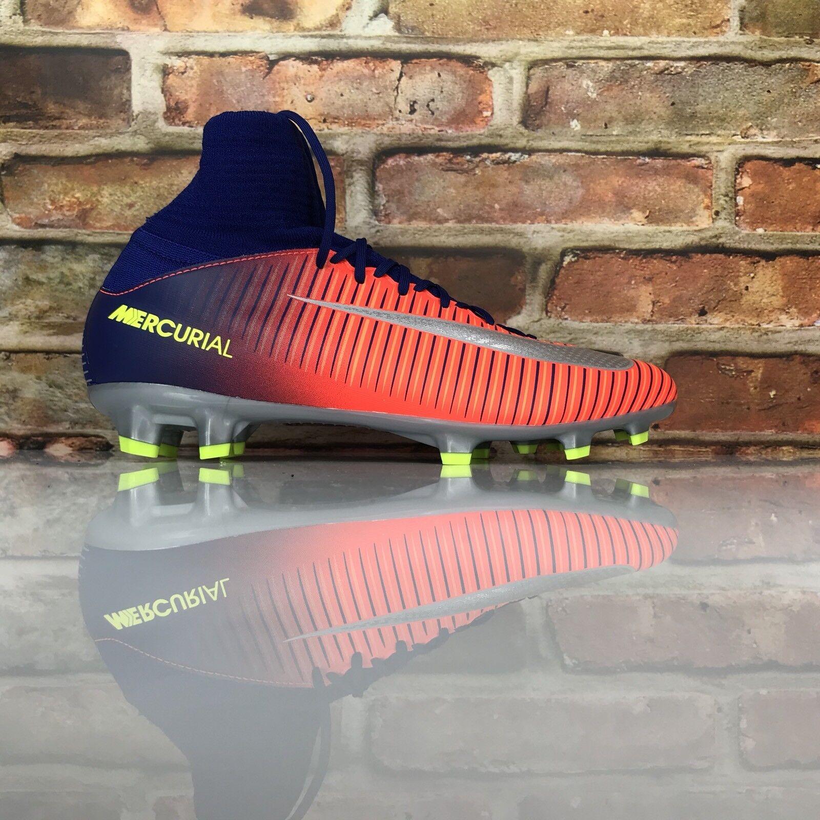 timeless design f61e6 73903 Nike Bambini Al Mercurio Superfly V Fg Scarpe Tacchetti da da da Calcio  Arancione Blu f0292f