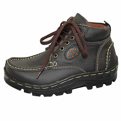 BOYS MILD LEATHER ANKLE BOOTS MENS WINTER HIGH TOP HIKING WALKING TRAINERS SHOES