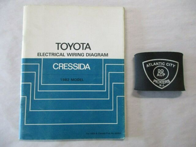 1982 Toyota Cressida Electrical Wiring Diagram Service