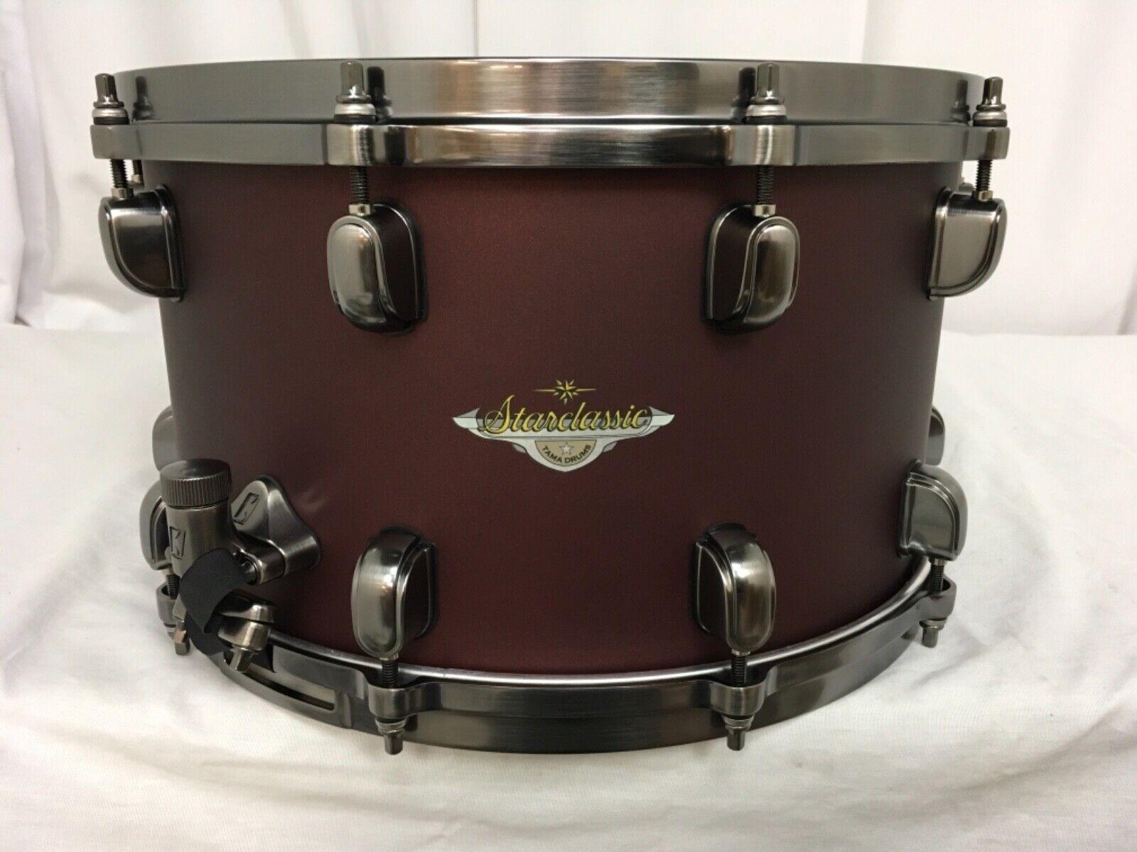 Tama Starclassic Maple 14  X 8  Snare Drum Flat Burgandy Metallic MAS148U-FBM