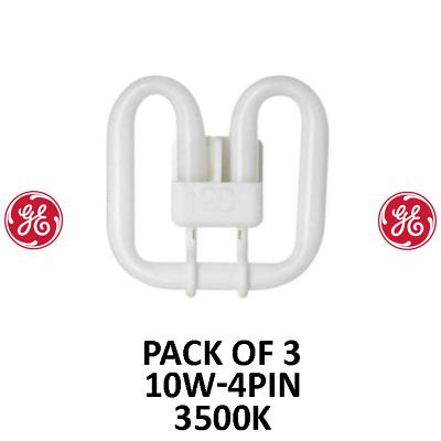 GE 10 W 4 Pin 2D Lampes 3500k * Pack De 3