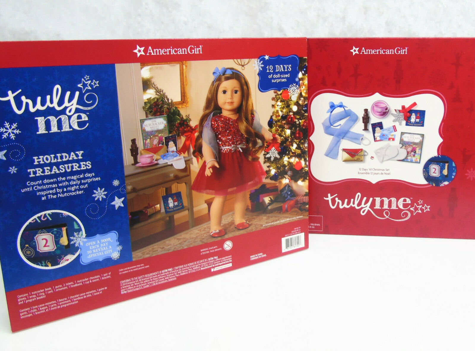 American Girl 2019 Christmas Advent Nutracker Blue Organza Shawl for Doll Only