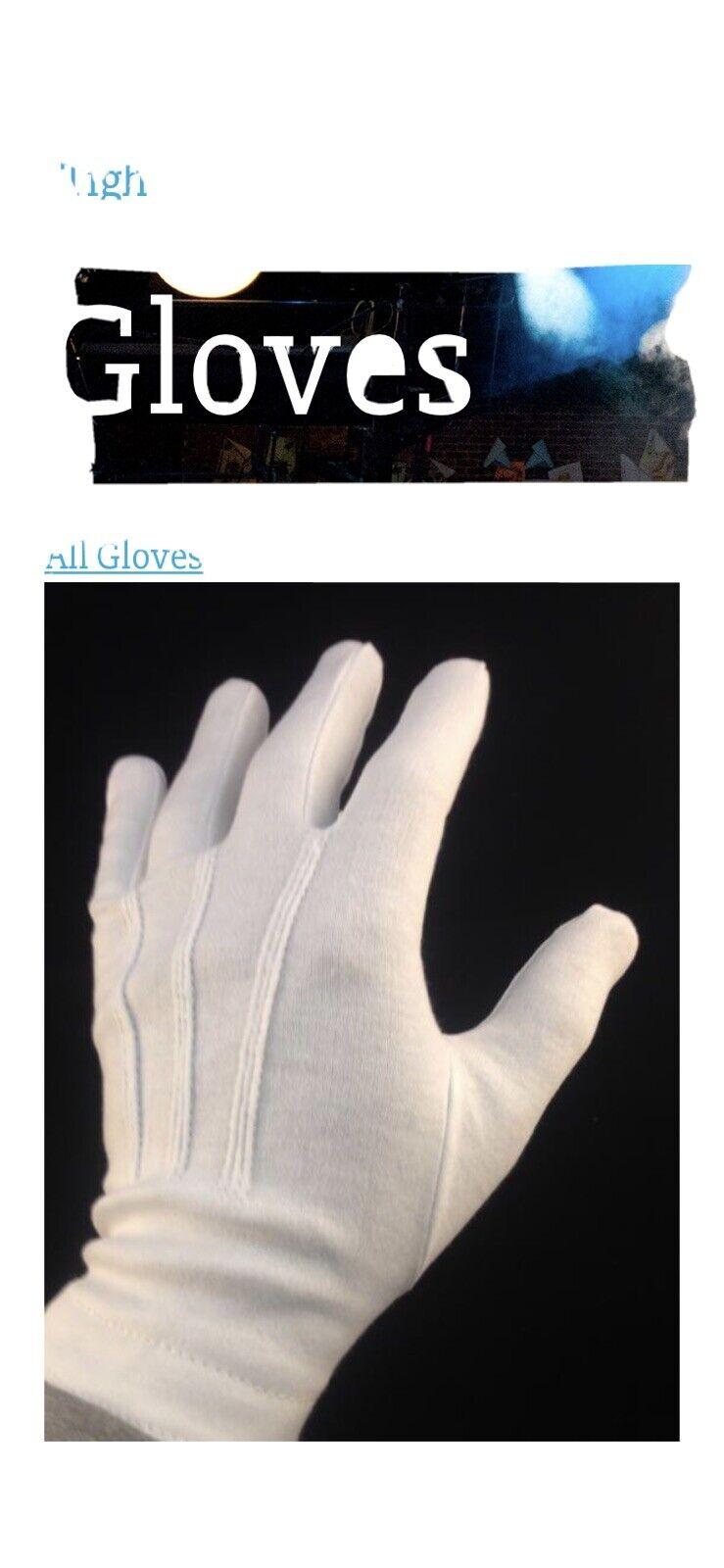 1 Doz. Police Formal Tuxedo Honor Guard Parade Nylon Gloves Xl
