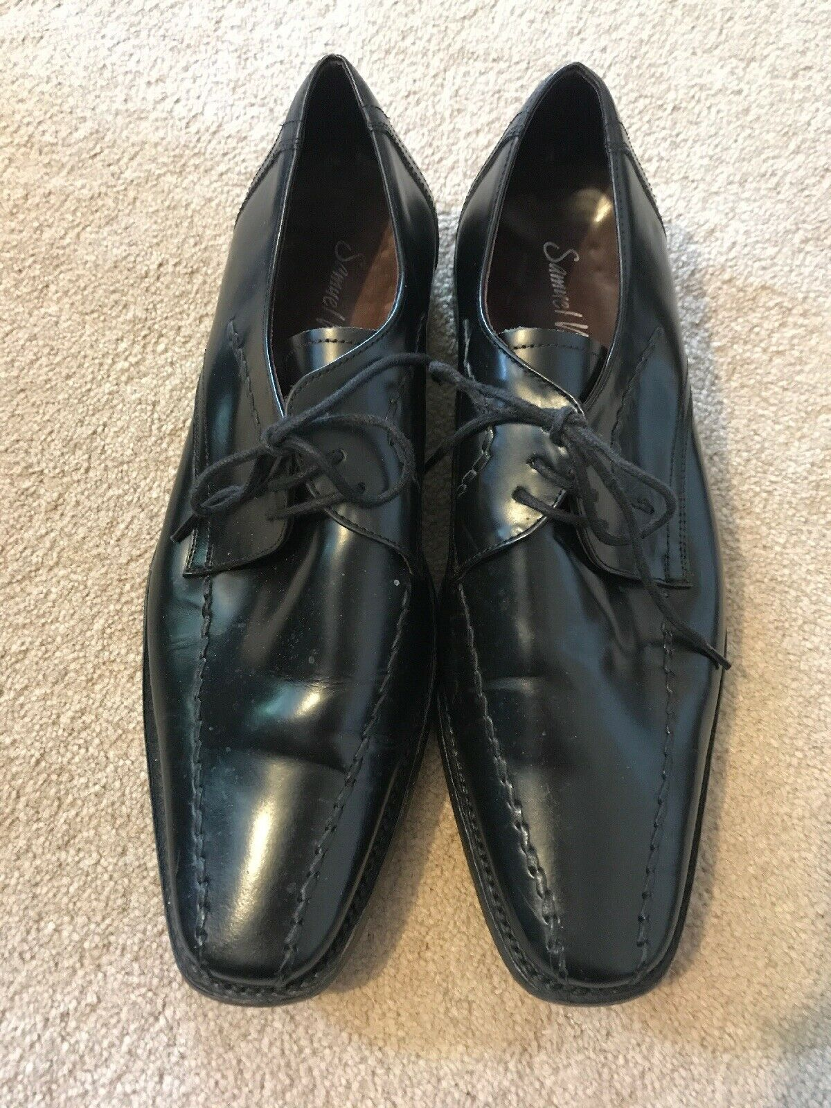 Samuel Windsor Black Leather shoes UK 8