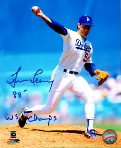 Tim-Leary-Signed-8X10-Photo-88-WS-Champs-Autograph-LA-Dodgers-Auto-w-COA-1988