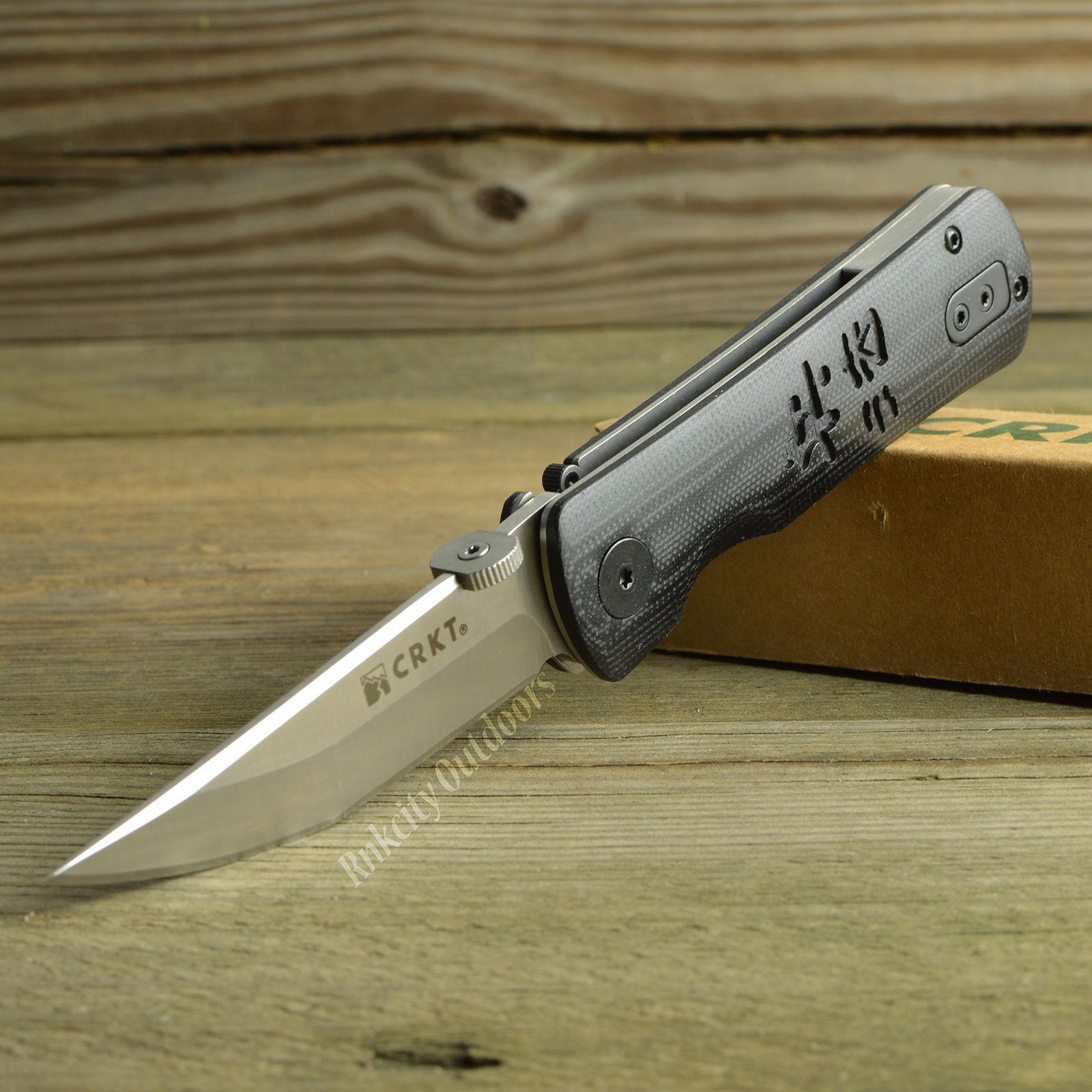 Cr2900 CRKT Hissatsu 2 Tactical a o Blade 8cr14mov g-10 handle linerlock clip