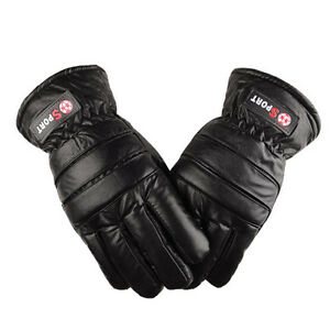 Men-039-s-Sports-Outdoor-Winter-Waterproof-Ski-Snow-Skiing-PU-Warm-Snowboard-Gloves