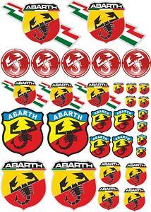 Kit 31 Adesivi Abarth Assetto Corse Stickers Scorpione Cod137