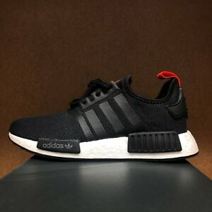 Image is loading ADIDAS-Boys-NMD-R1-J-Black-White-Red- 7937a2d4961a