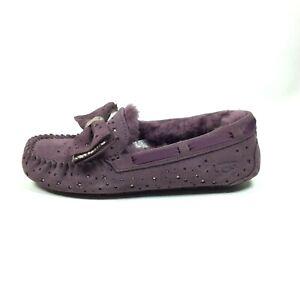 UGG-Dakota-Purple-Stargirl-Port-Leather-Fashion-Womens-Slipper-Moccasin-Size-7