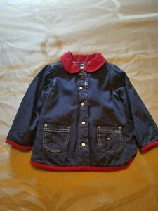 438a19f3 Tommy Hilfiger Girl Jacket Girls Size 3 Blue & Red Quilted Barn Coat ...