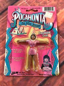 Pocahontas-Indien-Princesse-Poupee-Pliable-Jouet-Vintage-Jaru-1994-D-039-Amerique