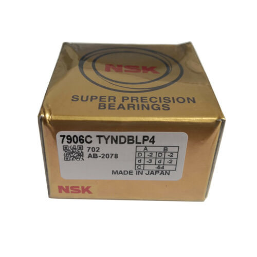 New NSK 7906CTYNDBLP4 Super Precision Spindle Angular Bearing.Matched Set of Two