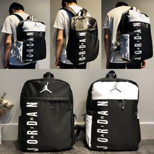 Details about Men Women Jordan Sports Backpack Gym Travel Rucksack Training  Laptop School Bag ebf5bdc0e79cf