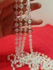 18 feet of shinny silver acrylic bead garland LR4