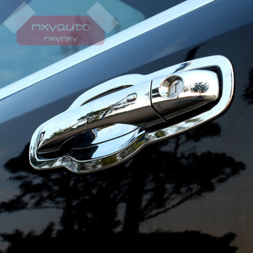 Door Handle Bowl Cup Chrome Cover Trim For Dodge Journey Fiat Freemont 13-17