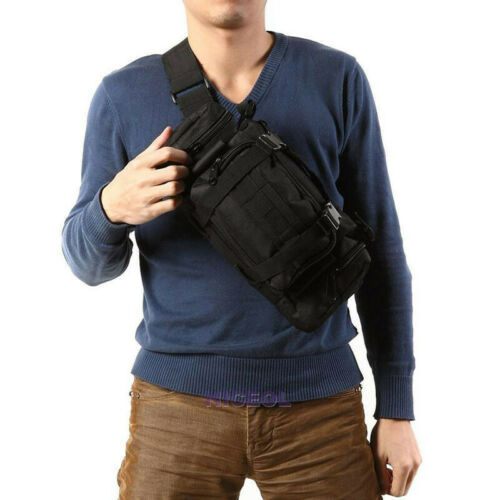 1Pc Outdoor Military Tactical MOLLE Shoulder Bag Waist Pouch Pack Camping Bag #w