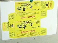 REPLIQUE  BOITE RENAULT 8 DINKY TOYS 1963