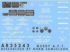 ARCHER FINE TRANSFERS 1//35 M113 INSTRUMENTS /& PLACARDS35356