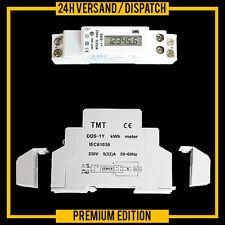 DIGITAL WATTMETER ENERGY METER DIN RAIL MOUNT kWh LCD DIGITAL ZW3