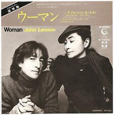 "John Lennon  ""WOMAN  "" Japan 7"" VINYL IN MINT CONDITION"