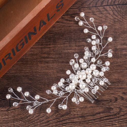 Bride Bridal Hair Comb Wedding Headwear Pearl Women Jewelry Hair Accessory Gift